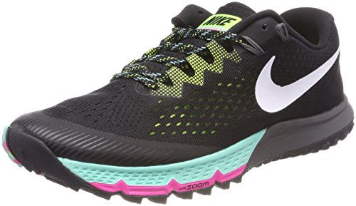 NIKE Mens Zoom Terra Kiger 4 Trail Running Shoes Black/White/Volt 880563-001 Size 10.5 ()