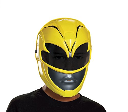 Yellow Power Ranger Costume Child (Yellow Power Ranger Movie Mask, One Size)