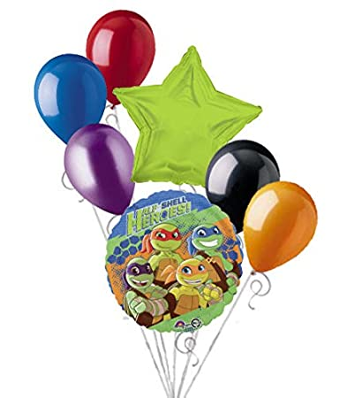 Amazon.com: 7 pc Half Shell Heroes Balloon Bouquet ...