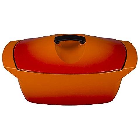 Le Creuset L2560-282 Raymond Loewy Coquelle Oven, 5 quart, Flame