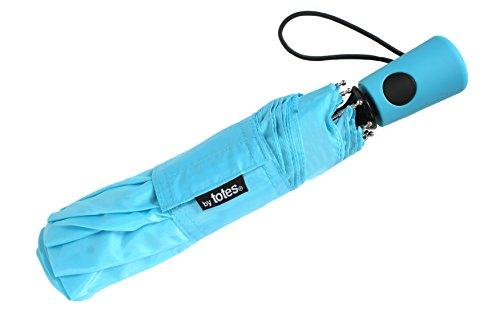 Totes Mini Auto Umbrella, Blue