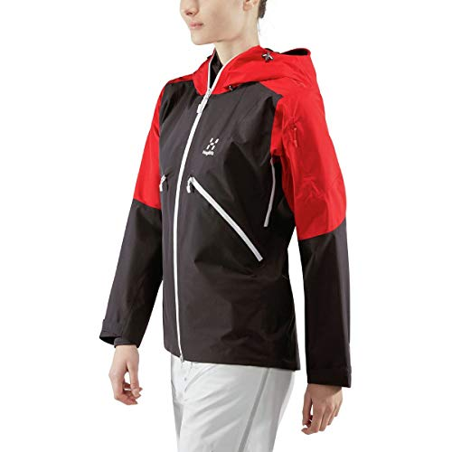 Haglofs Khione Jacket - Women's Slate/Rich Red, M