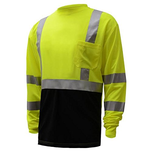 Class 3 Hi Viz Long Sleeve T-Shirt With Black Bottom (Medium) by  F&W