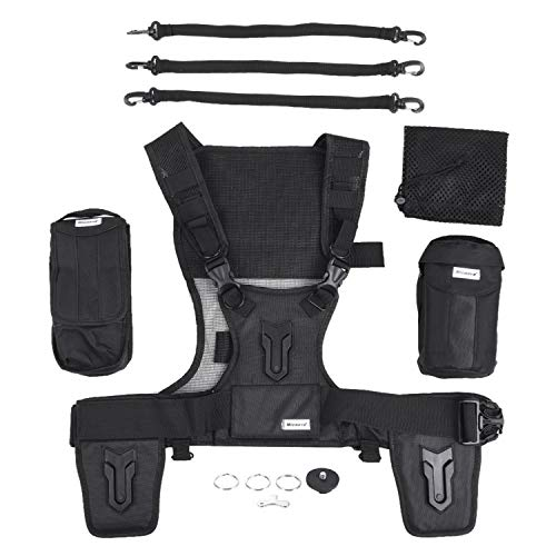 Triple Camera Harness, Micnova Carrying Chest Vest System with Side Holster for Smartphone Lens Canon Nikon Sony DV DSLR Camcorder Tripod Stand Wedding Journalism YouTube Vlog Livestream by Micnova (Image #7)