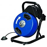 1/2 inch by 50 feet Compact Electric Drain Cleaner Drum Auger Snake (1 to 4 pipes) with Built-in GFCI and many...