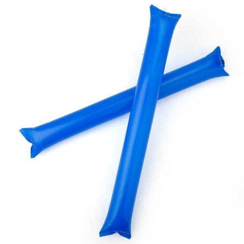GOGO 50-Pack Bam Bam Thunder Sticks, Cheerleading Outfit, Inflatable Noisemakers-Blue