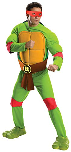 Rubie's Men's Teenage Mutant Ninja Turtles Deluxe Adult Muscle Chest Raphael, Green, Standard (Ninja Turtles Movie Mask)