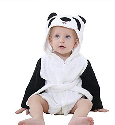 Clothink Baby Cotton Hooded Towel Bathrobe, Animal Theme Party Custume Pajamas Sleepwear for Unisex Baby -