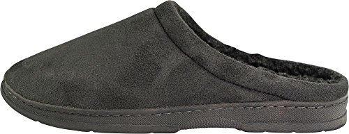 Bopj - Mens Memory Foam Thinsulate Gevoerde Waterafstotende Slipper Grijze Verstopping