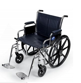 Medline Extra Wide Wheelchair 500 lb Weight Capacity