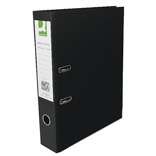 Q-Connect KF20029 - Archivador de palanca, (tamaño negro folio, cartón), color negro (tamaño e1fa21