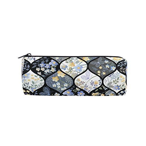 ALAZA Patchwork Pencil Bag Pen Case Stationery Pouch Coin Purse with Zipper for School Work Office