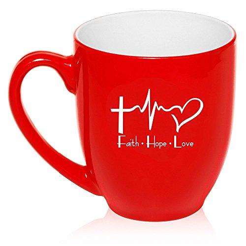 Ceramic Coffee Tea Glass Cup Faith Hope Love