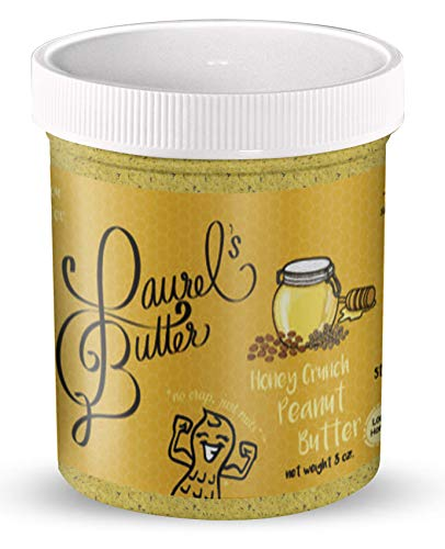 Laurel's Butter - Honey Crunch Peanut Butter/Chia and Flax seeds/local honey/crunchy 8 oz