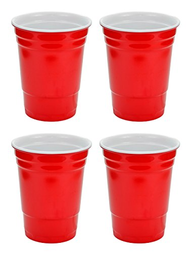 (Fairly Odd Novelties 16oz Red Cup Made Out Of Melamine 4 Pack Living It Large Drink Solo or With A)