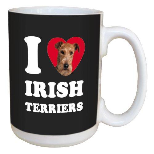 Tree Free Greetings LM45068 I Heart Irish Terriers Ceramic Mug with Full-Sized Handle, 15-Ounce