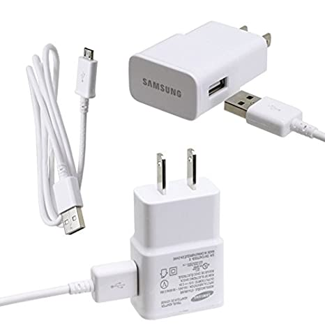 Samsung Universal Micro Home Travel Charger for Galaxy S3/S4/Note 2 - Non-Retail Packaging - White