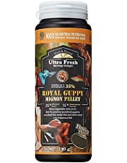 Ultra Fresh - Royal Guppy Mignon Pellet, 100% Natural Guppy Food, 35% Sword Prawns, 15% Natural Spirulina + Seaweeds, Highly Nutritious, Zero Preservatives, for Cleaner Water and More Vibrant Color, Fish Food