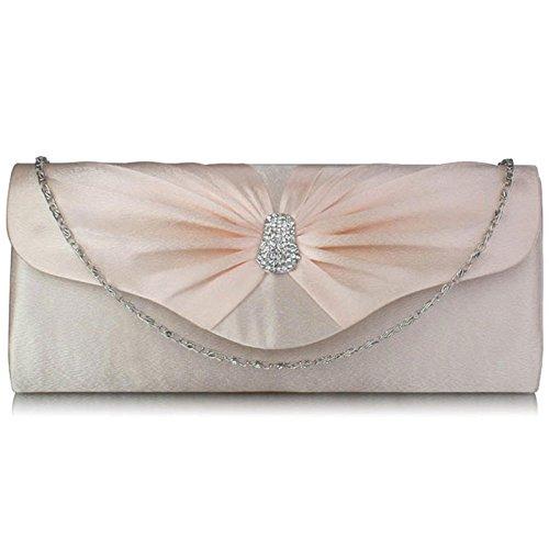 Xardi London-Frizione a punta in Diamante, motivo: borsetta da donna, per abiti da sera Nude