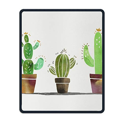 Cacti Pot Mouse Pads Personality Desings Gaming Mouse Pad Style 8.7 × 7