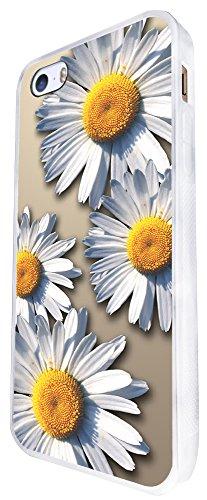 292 - Shabby Chic Big Daisy Design iphone SE - 2016 Coque Fashion Trend Case Coque Protection Cover plastique et métal - Blanc