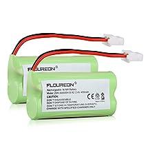 Floureon® 2-Pack Rechargeable VTech BT162342 BT262342 BT166342 BT266342 Replacement Cordless Phone Battery
