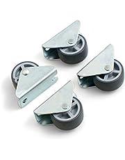 Design61 4x kastbokrol bedkastrol meubelrol meubelrollen 30x14 mm met zacht loopvlak