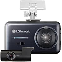 LG Innotek 2-Channel Full HD 1080p Front and Rear Dashcam with 3.5 LCD Touchscreen and Battery Protection Hardwire Kit, 64GB Micro SD (BBDB-FF02E)