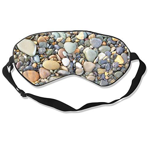 Mr.Roadman 100% Silk Sleep Mask Comfortable Sleeping Eye Mask - Pebble Stone Pattern Art Sleep Eyes Covers for Travelling, Night Noon Nap, Mediation Or Yoga - Oklahoma Sooners Pebble