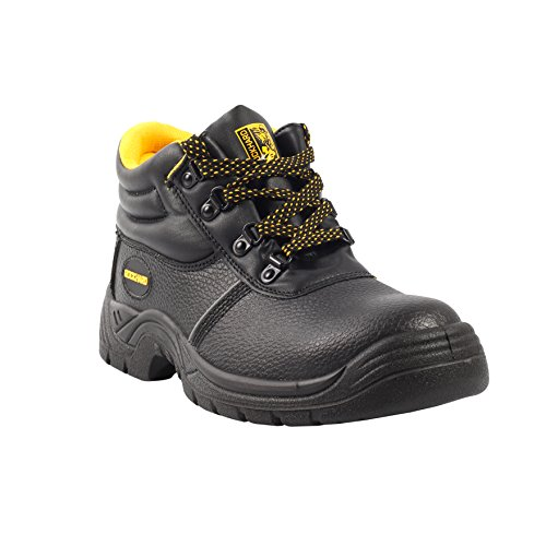 5 Inch Black Safety Shoes (9) - Black Leather Safety Shoe