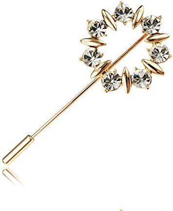 たんぽぽの花 ブローチ 高品質 ダイヤモンドCZ 18金RGP レディース ブローチ キラキラ 結婚式 パーティー 宴会 メンズ ブローチ(ピンクゴールド)ギフト包装