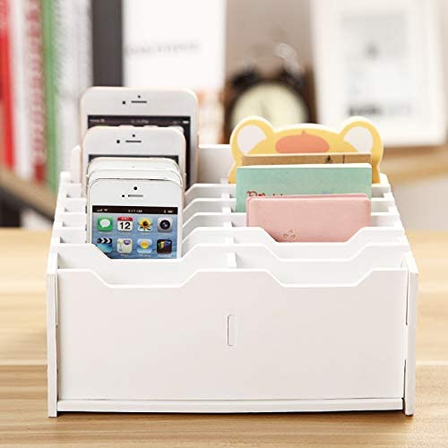 Education & Crafts Sanfurney 36 Slots Cell Phone Storage Box for ...