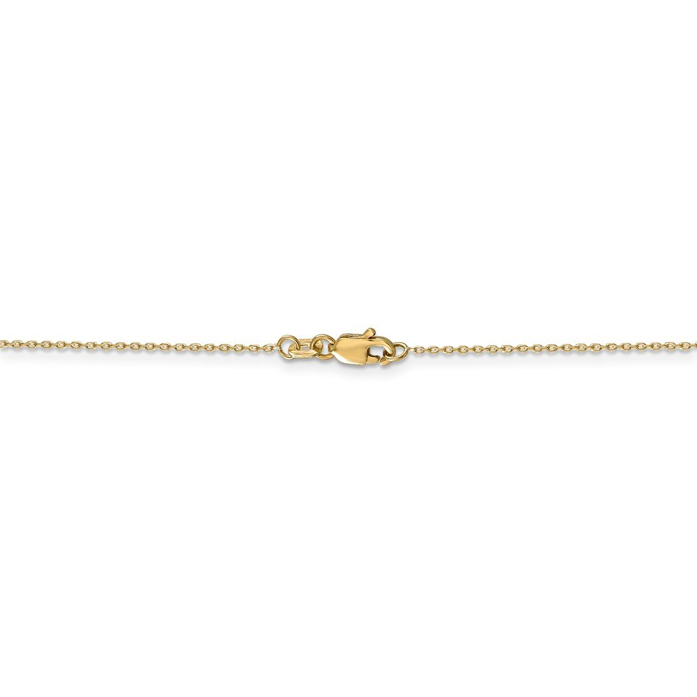 14k Yellow Gold .8mm Cable Chain Necklace