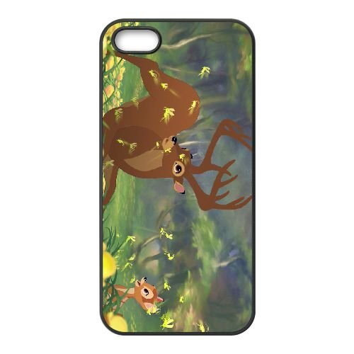 Bambi 016 coque iPhone 5 5s cellulaire cas coque de téléphone cas téléphone cellulaire noir couvercle EOKXLLNCD26155