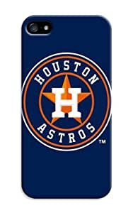 Iphone 5/5S Protective Case - Impact Resistant Bumper, Mlb Baseball Houston Astros, Compatible With Iphone 5/5S BY RANDLE FRICK by heywan
