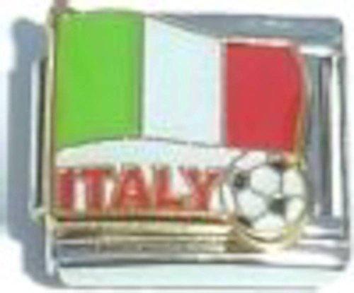 Italy Flag Soccer Italian Charm (Ball Soccer Italian Gold)
