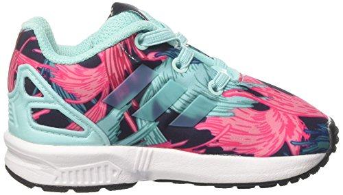 adidas Unisex Baby ZX Flux EL I Sneaker Mehrfarbig (Energy Aqua F17/energy Aqua F17/ftwr White)