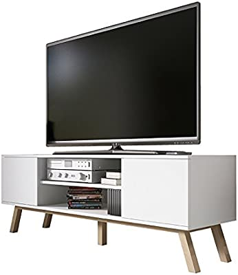Vero Wood – Mueble TV Moderno / Mesa para TV (150 cm, Blanco Mate ...