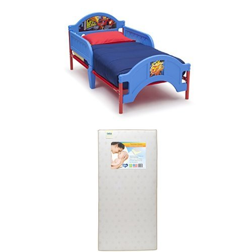 Delta Children Plastic Toddler Bed, Nick Jr. Blaze/The Monster Machines with Twinkle Stars Crib & Toddler Mattress - Place Twin Loft Bed