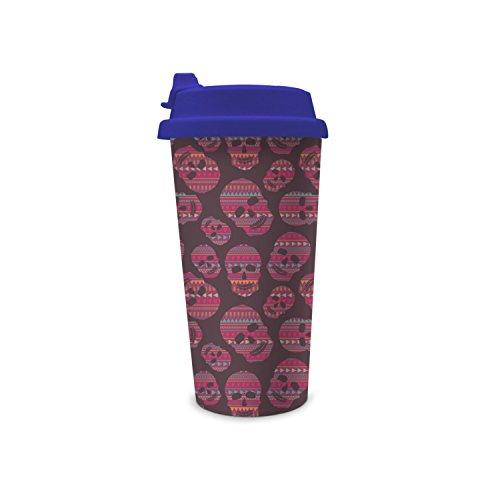 jdfrrv dddd NonToxic Certified Red Skulls 450ml Double Flip Wall Plastic Funny Cup