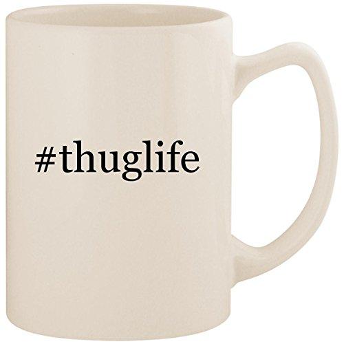 #thuglife - White Hashtag 14oz Ceramic Statesman Coffee Mug Cup (Tupac 4 Cases Ipod)