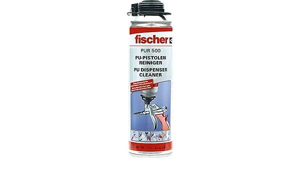 12 latas Fischer Pur 500 de PU y espuma pistolas - Limpiador 500 Ml: Amazon.es: Bricolaje y herramientas