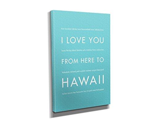Hawaii Honolulu Paper (Hawaii Canvas Wall Art in Robins Egg Blue, Size 8