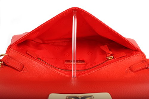 39055 Leather handbag Red Poppy Chain Crossbody Tory Burch Clutch Women's Britten 8qSBwgS