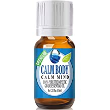 Calm Body, Calm Mind Blend 100% Pure, Best Therapeutic Grade Essential Oil - 10ml - Sweet Marjoram, Roman Chamomile, Ylang Ylang, Sandalwood, Vanilla, French Lavender