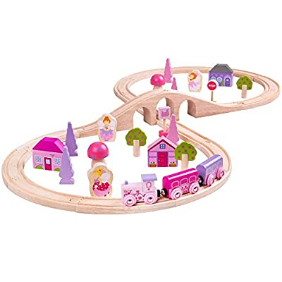 Bigjigs Rail Wooden Fairy Figure of Eight Train Set - 40 Play Pieces: Toys & Games