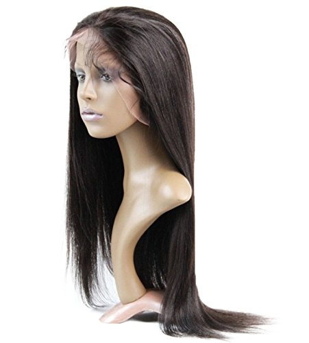 100% Human Hair Front Lace Wig European Virgin Remy Human Hair Yaki Color - Remy Hair Wig European