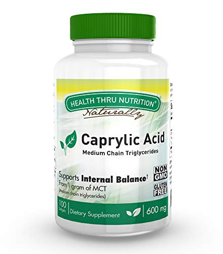 Caprylic Acid 600mg softgels Non GMO product image