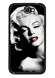 Color.Dream Black White Marilyn Monroe Hard Plastic Back Case Cover Phone Protective Case for Samsung Galaxy Note2 N7100