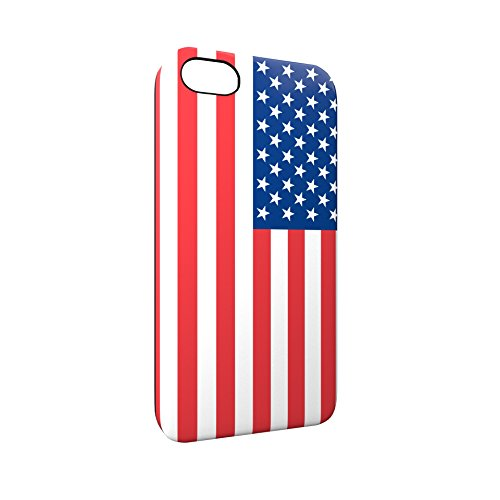 Flag of United States Of America USA Glossy Hard Snap-On Protective iPhone 5 / 5S / SE Case Cover